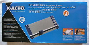 Elmers X acto 15 Metal Base Rotary Paper Trimmer 3 Blade Designs 26515 Cutter