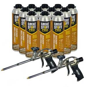 Dow Great Stuff Wall And Floor Adhesive 26 5 Oz Gun Foam 12 Cans