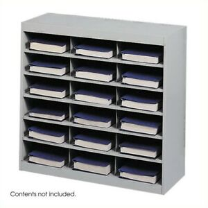 Safco E z Stor Grey Steel Mail Organizer 18 Compartments