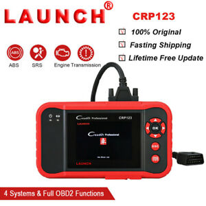 Launch Creader Crp123 Obdii Scan Diagnostic Tool Code Reader Abs Srs Engine New