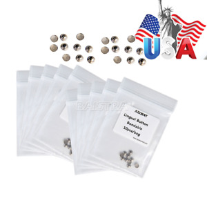 100 Bags Dental Orthodontic Lingual Buttons For Bondable Teeth round Base Usa