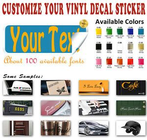 Custom Vinyl Decal Sticker Name Phrase Lettering Car Wall Window Laptop Ipad Art
