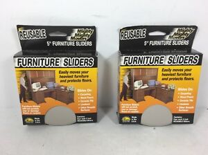 Lot Of 2 Master Mighty Mighty Movers Office Furniture Sliders 5 Diameter