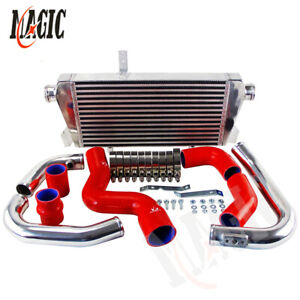Red New Front Mount Intercooler Kit For Audi A4 1 8t Turbo B6 Quattro 2002 2006
