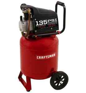Craftsman 10 Gallon Portable Air Compressor 1 0 Hp 15a 135 Max Psi Vertical Pump