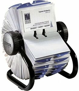 Rolodex Rotary Business Card File 400 card Cap Office Desk Top Supplies Contacts