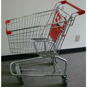 4 2 Cubic Ft Chrome With Red Shopping Cart