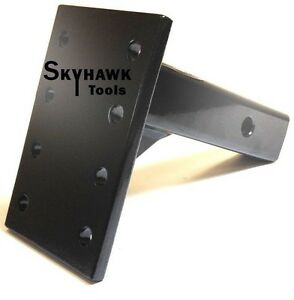 5ton 2 Pintle Hook Plate Mount W 8 1 2 Shank For Trailer Tow Hitch