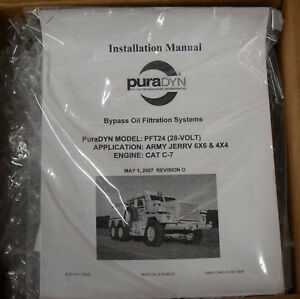 Military Mrap Puradyn Pft 24 Engine Oil Filter Bypass With Armor Plating Cat C7