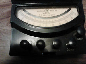 Ge General Electric Dc Millivolt Meter Type 8dp9vea1 10 100millivolts With Case