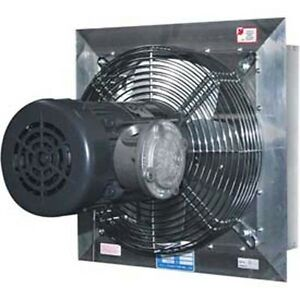 12 Aluminum Exhaust Fan 1 670 Cfm 1 3 Hp 115 230 Volts Explosion Proof
