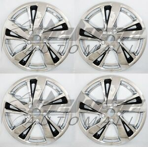 17 Chrome Black Wheel Skins Hubcaps For 13 14 2015 2016 2017 Nissan Altima