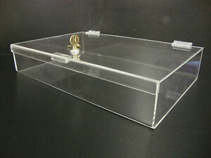 Acrylic Countertop Display Case16 X 10 X 3 Locking Security Show Case Safe B