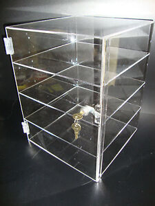 305displays Acrylic Countertop Display Case 12 X 12 X 16 Locking Showcase