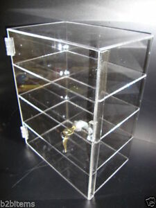 Acrylic Countertop Display Case 12 X 6 X 16 Locking Security Show Case Safe B