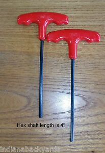 5 32 T Handle Hex Allen Key Wrench Pack Of 2 Wrenches