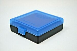 22 lr Ammo Box  Case for 100 rounds BUY 4 GET 1 FREE  .25 ACP (NO AMMO) BLUE