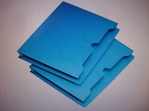 25pk New Staples Colored File Jackets Letter 2 Expansion Blue 378760