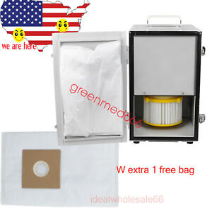 Dental Laboratory Single row Vacuum Dust Collector Collecting extra 1 Dust Bag