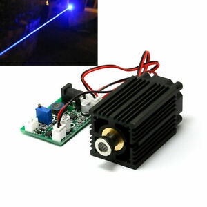 450nm Blue Laser Dot Diode Module Focusable 2000mw 2w W driver ttl 12v Cutting