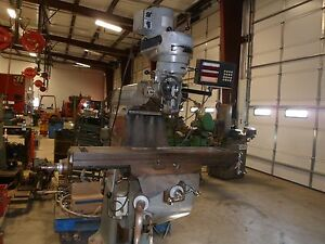 1980 Vertical And Horizontal Enco J Head Mill 42 Table