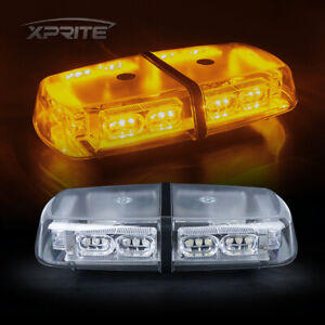 Xprite 36 Led Amber yellow Emergency Hazard Flash Roof Top Mini Strobe Light Bar