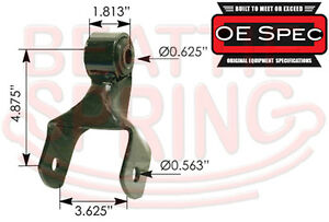 Front Leaf Spring Shackle For Ford F 250 F 350 Sri Oe Spec