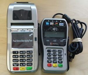 New First Data Fd130 Terminal With Smart Card Reader emv And Fd35 Pin Pad