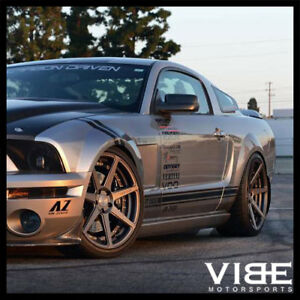 20 Vertini Dynasty Grey Concave Wheels Rims Fits Ford Mustang Gt Gt500