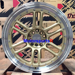 Xxr 552 Wheels 18 Gold Rims Staggered 5x114 3 Fit Nissan 03 08 350z Rpf1 Nismo