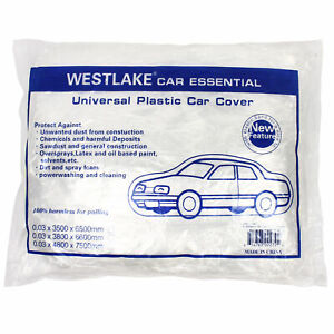 Clear Plastic Disposable Car Cover Temporary Universal Rain Dust Garage