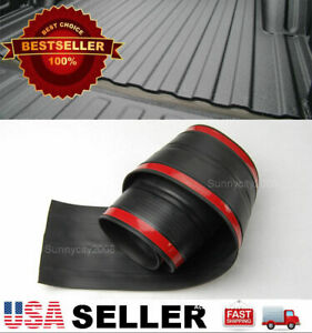 6 Rubber Truck Bed Tailgate Gap Cover Filler Seal Shield Lip Cap For Ford Dodge