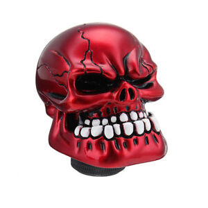 Red Skull Head Universal Car Truck Manual Stick Gear Shift Knob Lever Shifter Us