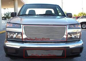 Billet Grille Insert 04 10 Gmc Canyon Front Grill Combo Aluminum Replacement