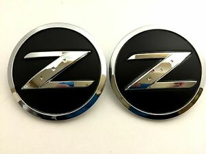 X2 Nissan 350z 370z Z Fender Emblem Badge Decal Replaces Oem 63890 Cd10a
