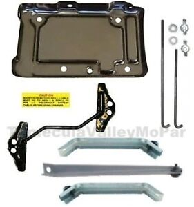 Battery Tray Hold Down Set For 1966 Mopar B Body