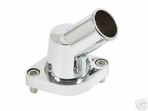 Water Neck Thermostat Housing Chevy Big Small Block Swivel Polished Aluminum 45
