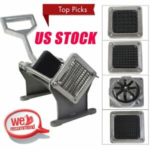 Potato French Fry Fruit Vegetable Commercial Cutter Slicer Cutting W 4 Blades J