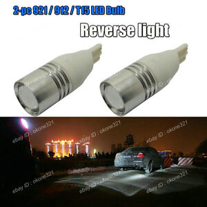 2x T15 T10 High Power Cree Led Xenon White Backup Reverse Light Bulb Projector A