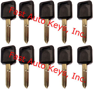 10 ten New Uncut Ignition Transponder Chipped Keys For Nissan infiniti Id46