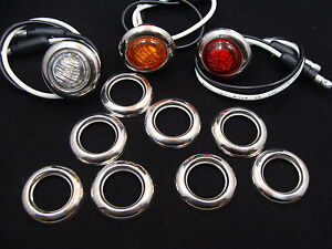 30 3 4 Stainless Steel Bezels For Maxxima And Other 3 4 Led Clearance Lights