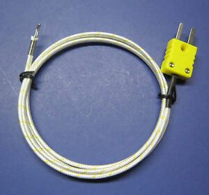 High Temperature K type Thermocouple Wire Sensor For Digital Thermometer Pk1000