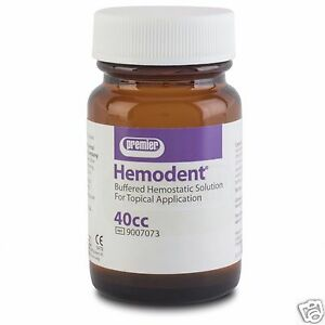 Dental Premier Hemodent 40 Cc Buffered Hemostatic Solution 4 Topical Application