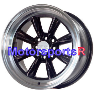 Xxr 537 Black 16 X 8 20 Wheels Rims Deep Machine Lip 4x114 3 Watanabe Style