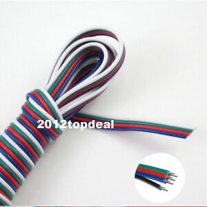 10m 4 pin Rgb Extension Wire Cable Cord For 3528 5050 Rgb Led Strip Light