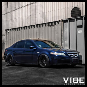 19 Mrr Ground Force Gf6 Black Concave Wheels Rims Fits Acura Tl
