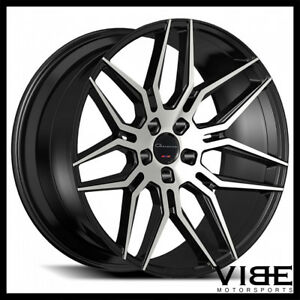 22 Giovanna Bogota Machined Black Concave Wheels Rims Fits Chrysler 300c 300s