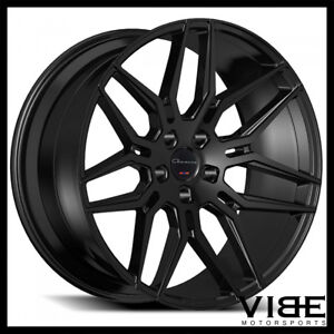 22 Giovanna Bogota Gloss Black Concave Wheels Rims Fits Chrysler 300c 300s 300m