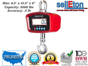 New Industrial warehouse Digital Heavy Duty Crane Scale With 2000 Lbs X 5 Lb
