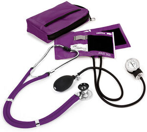 Aneroid Sphygmomanometer Stethoscope Combination Kit Lumiscope New